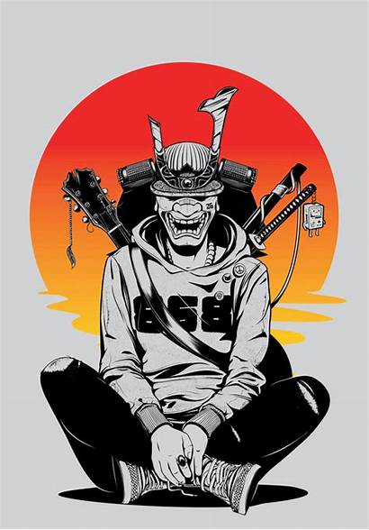 Samurai Japanese Behance Cyberpunk Dope Urban Street