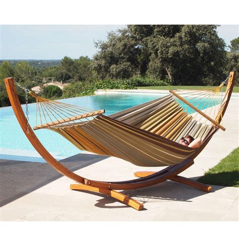 Wooden Hammock by Lazydaze Hammocks 12 Wood Arc Hammock Stand And Hammock