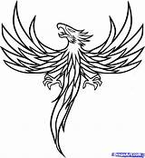 Phoenix Coloring Bird Pages Tattoo Tattoos Outline Drawings Easy Printable Sheets Colouring sketch template