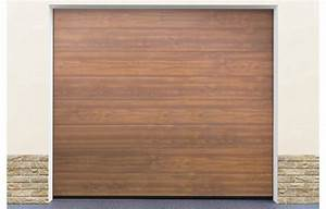 Porte De Garage Sectionnelle Pas Cher : porte garage sectionnelle coloris ton bois standard ~ Dailycaller-alerts.com Idées de Décoration