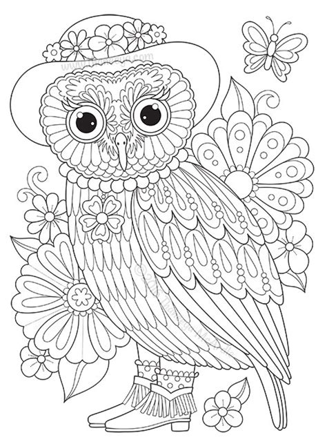 groovy owls coloring book  thaneeya mcardle thaneeyacom
