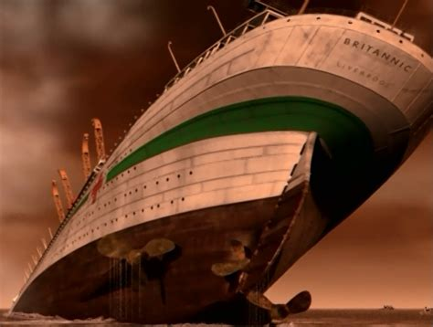 Sinking Of The Hmhs Britannic by Hmhs Britannic Sinking Britannic 2000 Guardian