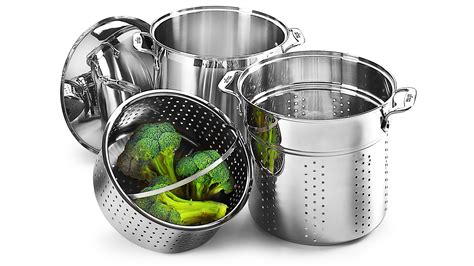 clad stainless steel multi function stock pot