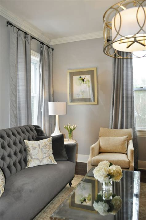 grey formal living room with gold accents Google Search