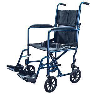 lightweight aluminum transport chair wheelchair fixed