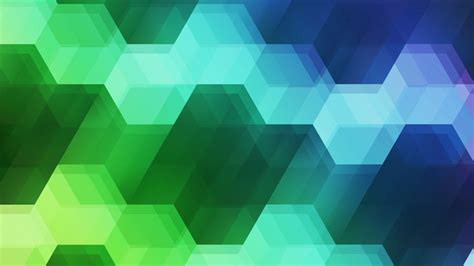 Wallpaper Hexagons, Spectrum, Colorful, Green, Blue, 5k