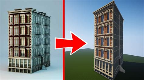 minecraft lets build  real life building ep row house youtube