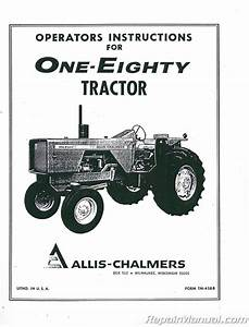 Allis Chalmers 180 Diesel Tractor Operators Manual