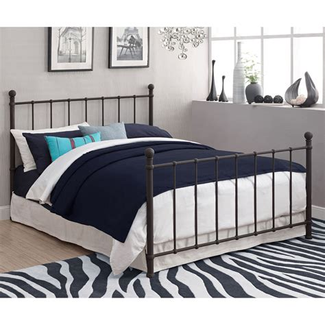 full size bed metal frame furniture bedroom headboard