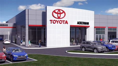 Toyota Dealership by New Ackerman Toyota Dealership On The Hill Forward