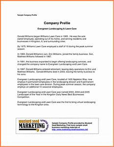 Company profile examples for small business for Company profile template for small business