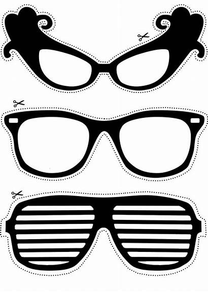 Booth Props Glasses Printable Prop Clipart Printables