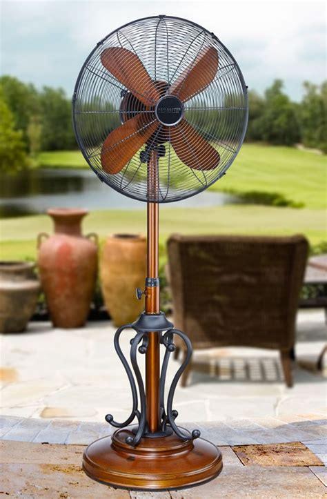 dbf byzantium outdoor patio fan floor standing