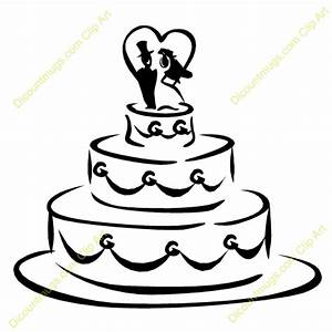 Elegant Wedding Cake Clipart - ClipartXtras