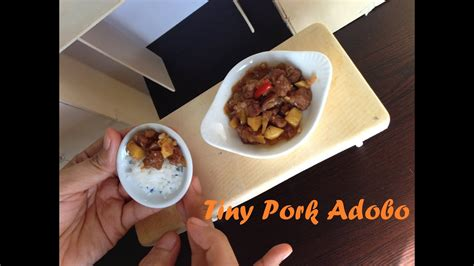 miniature cooking ep  tiny pork adobo adobong baboy