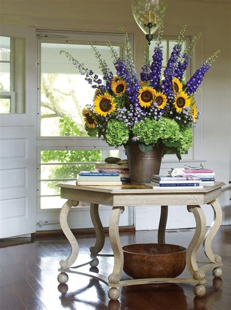favorite hydrangea arrangements sunflower