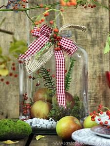 Rest Im Glas : tischdeko diy herbstliche dekoration mit weckgl sern vorratsgl sern und marmeladengl sern basteln ~ Orissabook.com Haus und Dekorationen