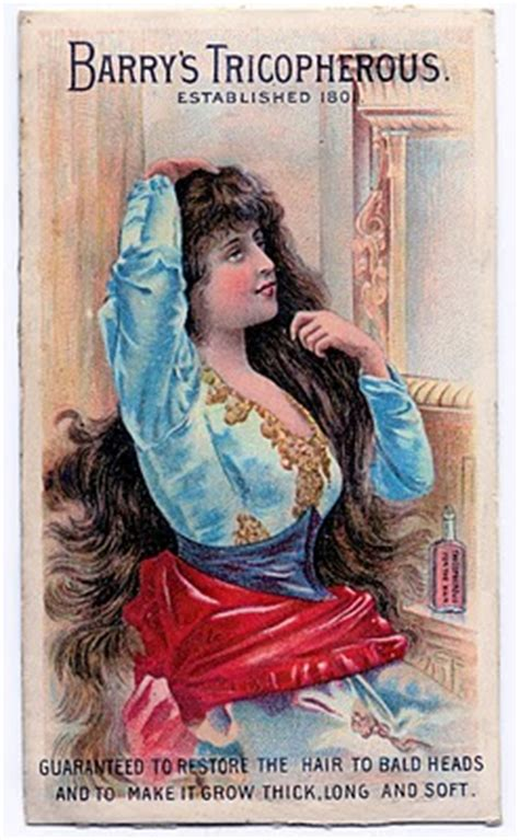 vintage clip art snake oil baldness cure