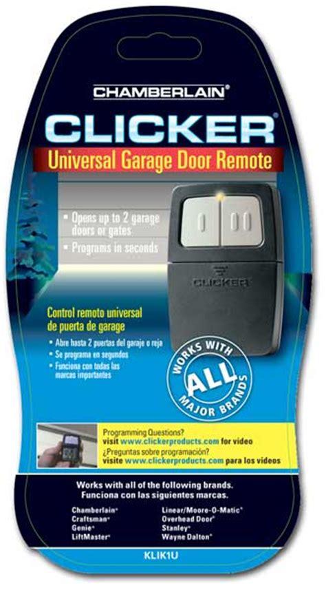 Chamberlain Klik1u Clicker Transmitter Universal Garage Door Remote by Chamberlain Klik1u Clicker Transmitter Universal Garage