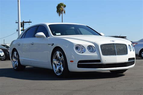 White Bentley by Bentley Flying Spur Pearl White Cars Uniq Los