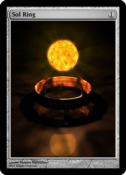 Ring Sol Mtg Altered Magic Cards Gathering