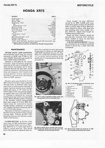 Service Manual For Honda Xr75  Partial