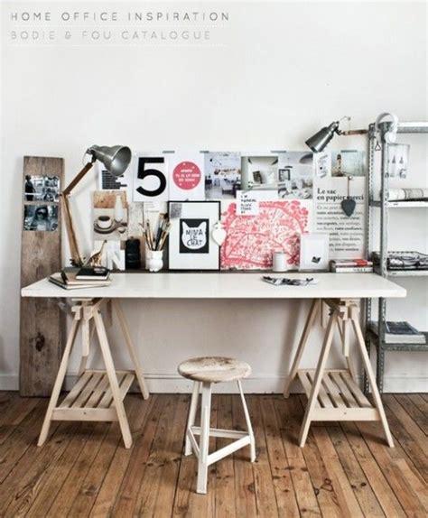 bureau ikea treteaux comment fabriquer un bureau esprit industriel pas cher