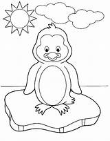 Penguin Coloring Pages Baby Penguins Winter Ice Sunny Block Printable Osu Cute Preschool During Sheets Colouring Christmas Crafts Kidsplaycolor Freecoloring sketch template