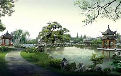 Zen Desktop Garden Wallpapers Nature Japanese Landscape