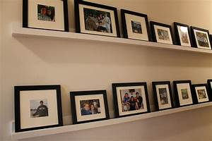 Hometalk DIY Picture Ledges Gallery Wall