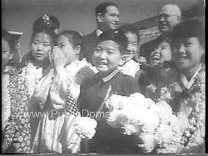 1954 Korean Childrens choir visits United States newsreel ...