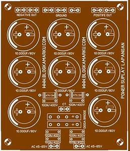 Membuat Power Supply Amplifier Lapangan Dengan 8 Elco