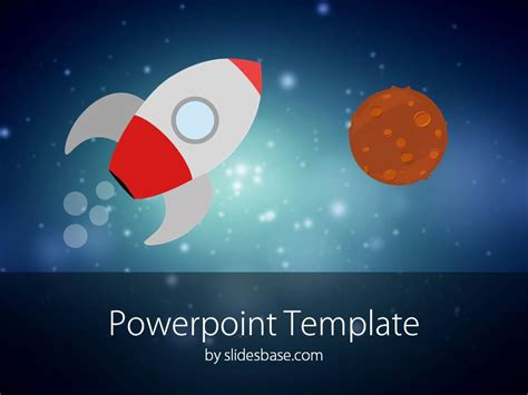templates space powerpoint cartoon rocket powerpoint template slidesbase
