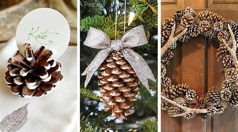 quick  easy pinecone crafts   holidays favecrafts