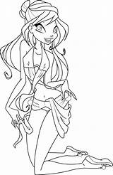 Coloring Swimsuit Bloom Pages Suit Deviantart Bikini Swim Icantunloveyou Winx Bathing Barbie Template Swimming Spongebob Swimwear Beach Print Vector sketch template