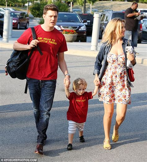 Michael Bublé, wife Luisana Lopilato and son Noah attend ...