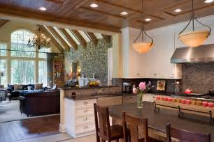 kitchen and dining room open floor plan create a spacious home with an open floor plan