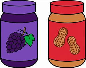 Jars of Peanut Butter and Jelly - Free Clip Art