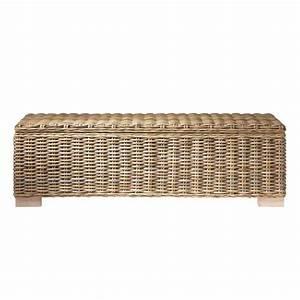 Banc De Rangement Maison Du Monde : bout de lit en mahogany massif et rotin l 130 cm key west ~ Premium-room.com Idées de Décoration