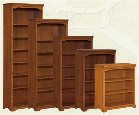 Solid Maple Bookcase by Amish Office Furniture Oak And Maple Furniture