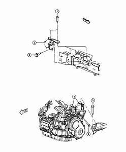 2012 Dodge Journey Mount  Transmission  Left Side  Engine