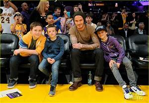 David Beckham images David Beckham: Lakers Game with the ...