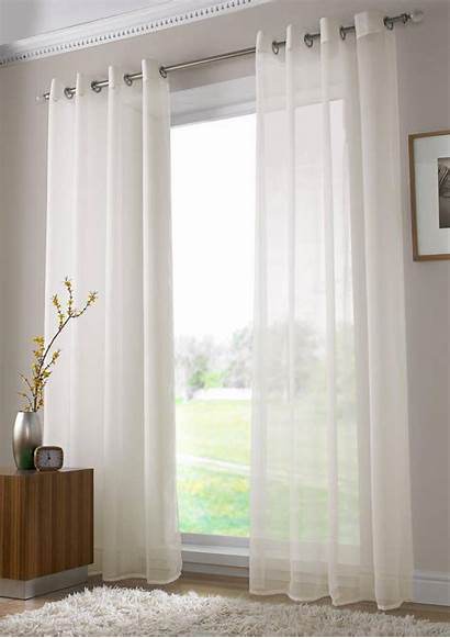 Voile Curtains Ivory Eyelet Cortinas Panel Sheer