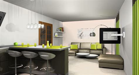 salon cuisine design comment amenager une cuisine ouverte sur salon amnagement de 20m2 amenagement cuisine salon