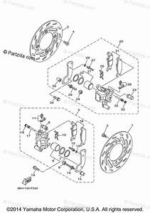 Yamaha Atv 2009 Oem Parts Diagram For Front Brake