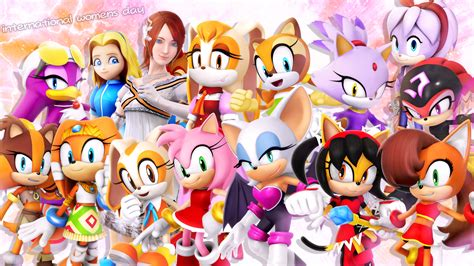 The Female Cast Of Sonic The Hedgehog! By Nibroc-rock On
