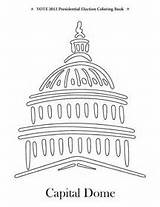Coloring Dome Pages Washington Election Presidential Dc Presidents 280px 92kb Clip sketch template