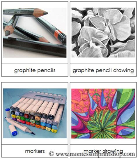 drawing art mediums montessori art materials