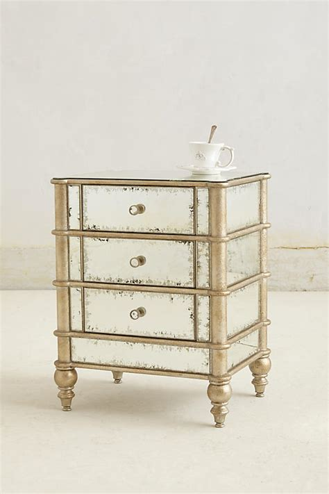 Antique Mirrored Nightstand by Mirrored Nightstand Anthropologie
