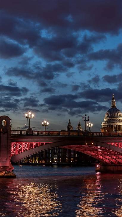 London River St Night Cathedral Paul Thames